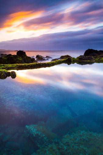 自然美「トランクウィリティ-海岸沿いのサンセット」:スマホ壁紙(19)