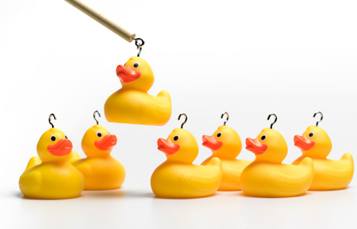 Choosing「Hooking yellow rubber ducks」:スマホ壁紙(3)