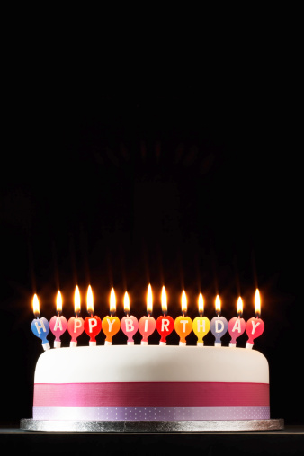 Part of a Series「Iced cake lit with happy birthday candles」:スマホ壁紙(13)