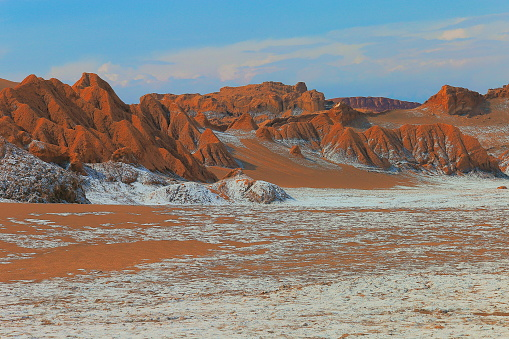 Bolivian Andes「Atacama Desert - Moon and death valley at sunset,  Volcanic landscape –  Chile」:スマホ壁紙(18)