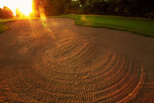 Sand Trap「France, Val-d'Oise, Golf course at Villarceaux」:スマホ壁紙(11)