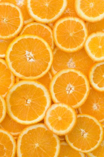 Orange - Fruit「Slices of orange, close up」:スマホ壁紙(2)