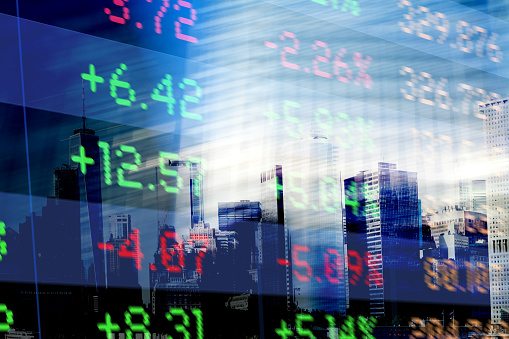 Number「Finance. Abstract office Buildings and Trading Screen Data」:スマホ壁紙(5)