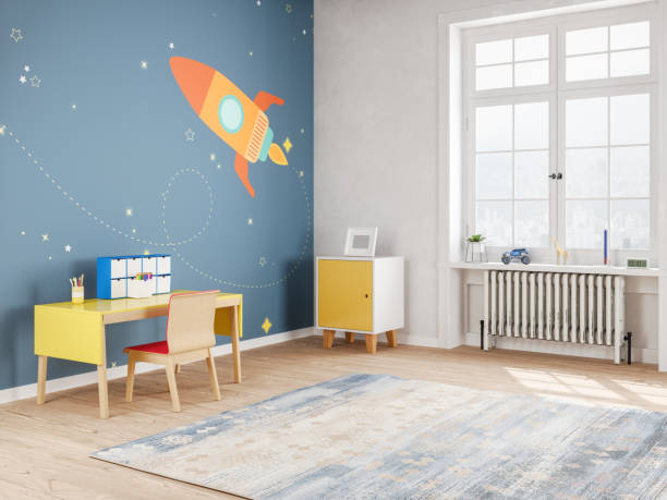 Modern Teen Bedroom in Space Style:スマホ壁紙(壁紙.com)