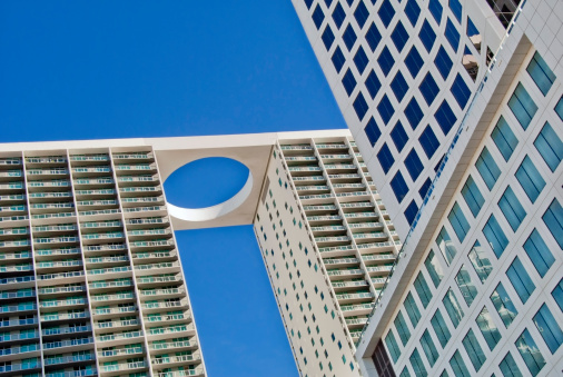Miami「USA, Florida, Miami, Low angle view of 500 brickell towers」:スマホ壁紙(5)