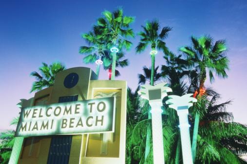 Miami「USA, Florida, Miami, 'Welcome to Miami' sign」:スマホ壁紙(8)