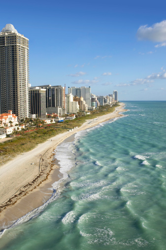 Miami Beach「USA, Florida, Miami, Miami Beach, aerial view」:スマホ壁紙(4)