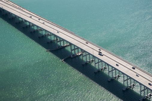Miami「USA, Florida, Miami, Aerial view of Port of Miami Bridge」:スマホ壁紙(1)