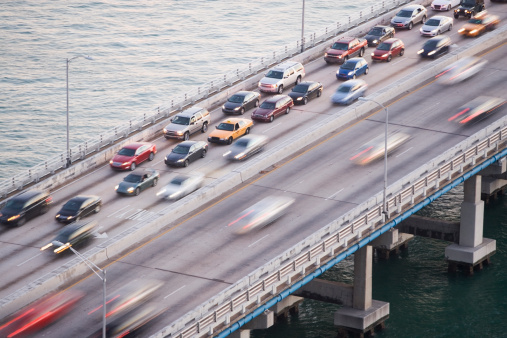 Miami「USA, Florida, Miami, Traffic jam on bridge」:スマホ壁紙(0)