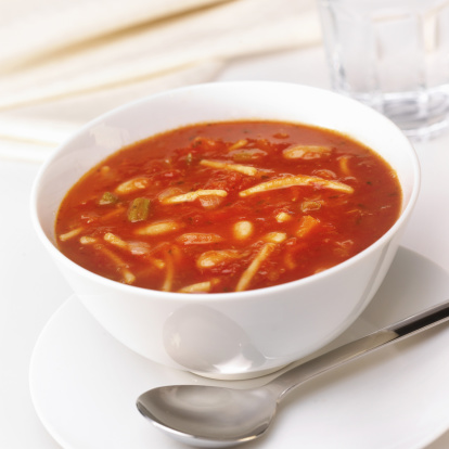 Close-up「Bowl of home made minestrone soup」:スマホ壁紙(0)