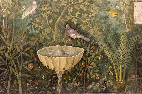 Painted Image「Garden (Detail). Fresco From The House Of The Golden Bracelet (Casa Del Bracciale Doro),」:写真・画像(16)[壁紙.com]
