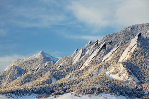 Snowdrift「Winter Snow on the Boulder Colorado Flatirons」:スマホ壁紙(5)