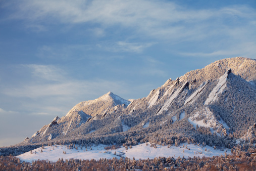 Rolling Landscape「Winter Snow on the Boulder Colorado Flatirons」:スマホ壁紙(2)