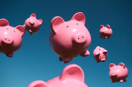 ファイナンス「豚飛行機で空を飛ぶフルホッコクピギー銀行」:スマホ壁紙(6)