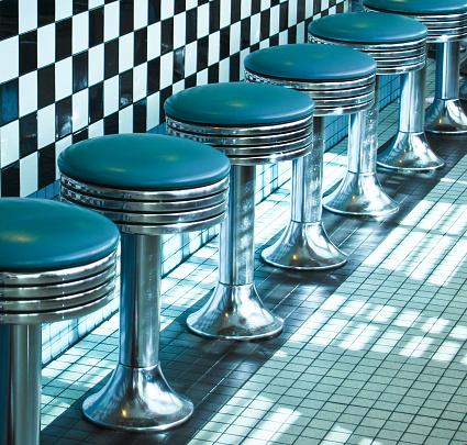 1960-1969「Route 66 Classic Retro Diner Stools」:スマホ壁紙(7)