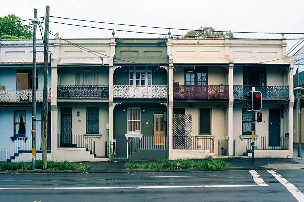 Australia, New South Wales, Sydney, row of old residential houses:スマホ壁紙(壁紙.com)