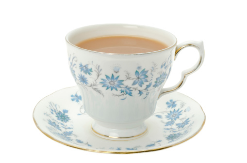 English Culture「Hot tea served in a bone china cup and saucer」:スマホ壁紙(19)