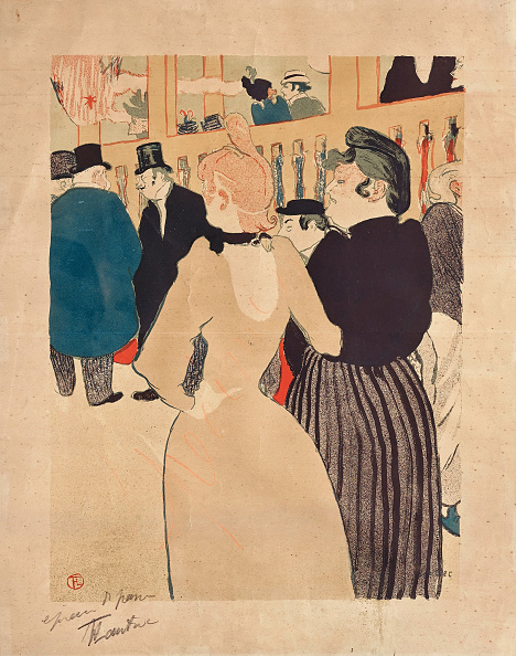 Chromolithograph「At The Moulin Rouge La Goulue And Her Sister (Au Moulin Rouge La Goulue Et Sa S?Ur) 1892」:写真・画像(4)[壁紙.com]