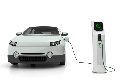 Hybrid Vehicle「Electric car plugged into the charging station」:スマホ壁紙(19)