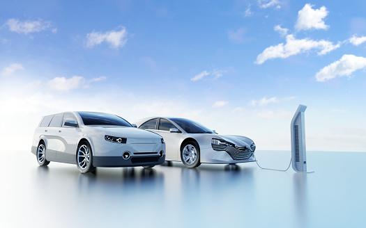 Battery「Electric Car Charging」:スマホ壁紙(10)