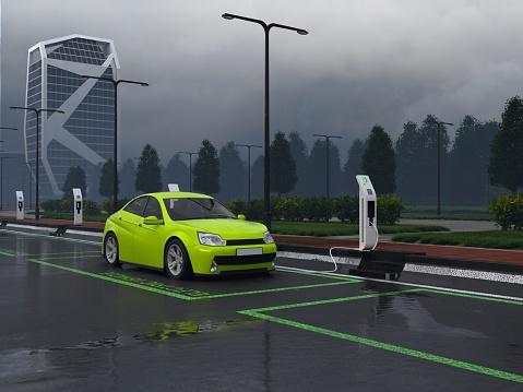 Power Line「Electric Car Charging」:スマホ壁紙(19)