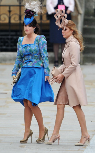 Princess Eugenie「Royal Wedding - Wedding Guests And Party Make Their Way To Westminster Abbey」:写真・画像(4)[壁紙.com]