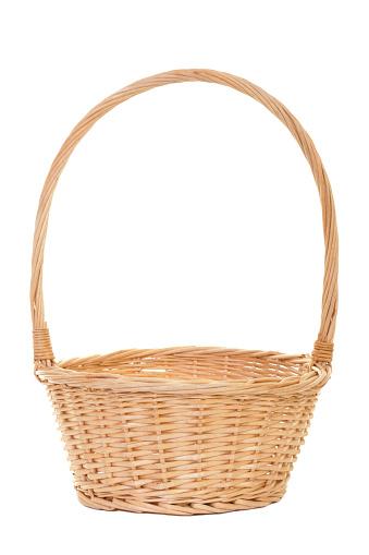 籠「天然の籐のバスケットを空に対応」:スマホ壁紙(4)