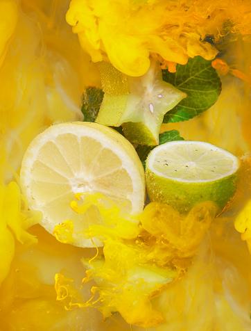 Sensory Perception「citrus fruit and ink shot underwater」:スマホ壁紙(2)