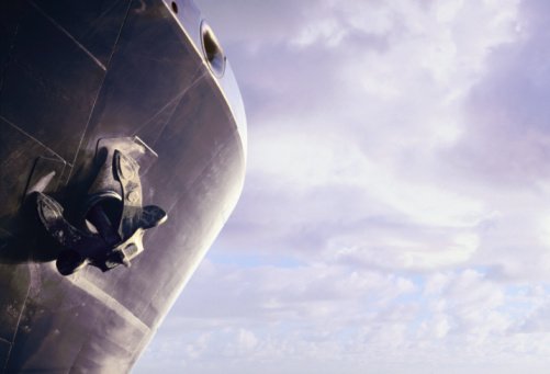 Freight Transportation「Ship's bow and anchor (digital composite)」:スマホ壁紙(3)