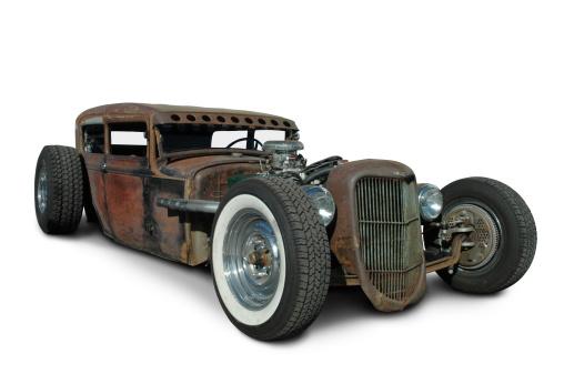 Hot Rod Car「Rusty Rat Rod」:スマホ壁紙(9)
