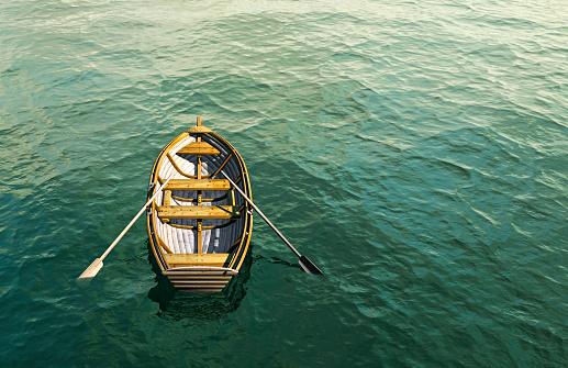 Struggle「Abandoned rowboat in ocean」:スマホ壁紙(5)
