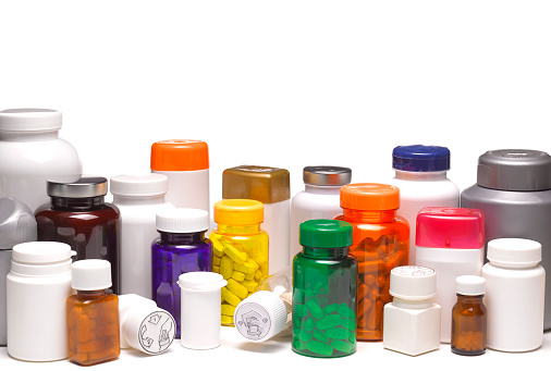 Thyroxine「Hypochondriac with a large collection of assorted pill bottles, with pills」:スマホ壁紙(8)