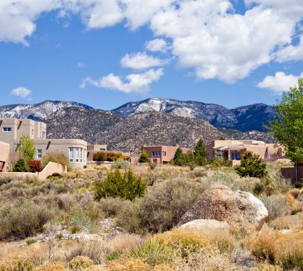 Sagebrush「Modern Southwest Adobe House, Albuquerque, New mexico」:スマホ壁紙(16)