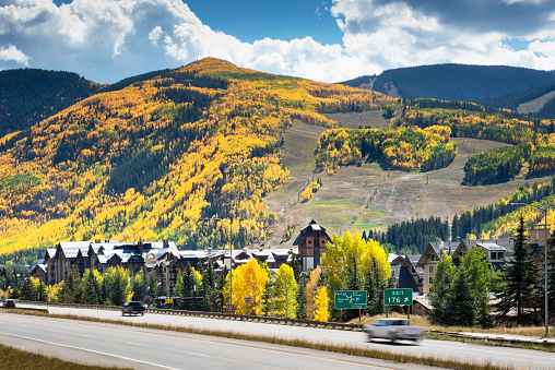 Aspen Tree「Vail, Colorado, Rocky Mountains, Vail Village, Vail Ski Resort, Rocky Mountains, Autumn, Aspen Trees, Autumn, Fall Foliage」:スマホ壁紙(14)