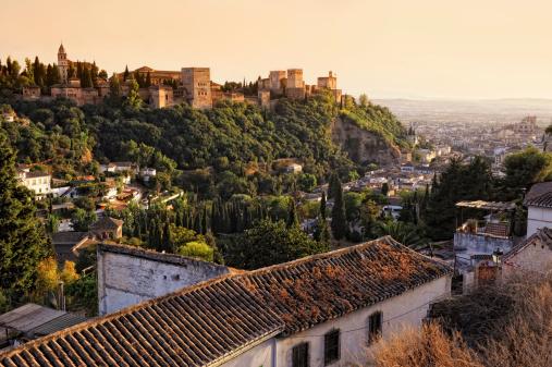 Granada Province「View on Alhambra at sunset」:スマホ壁紙(17)