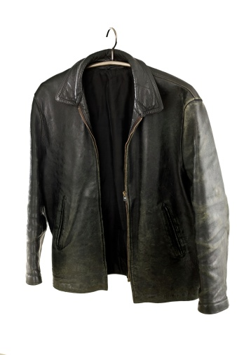 Carefree「old leather jacket on a hanger, isolated」:スマホ壁紙(16)