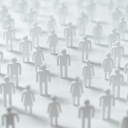 Figurine「Crowd of cut-out male & female plastic figures」:スマホ壁紙(2)