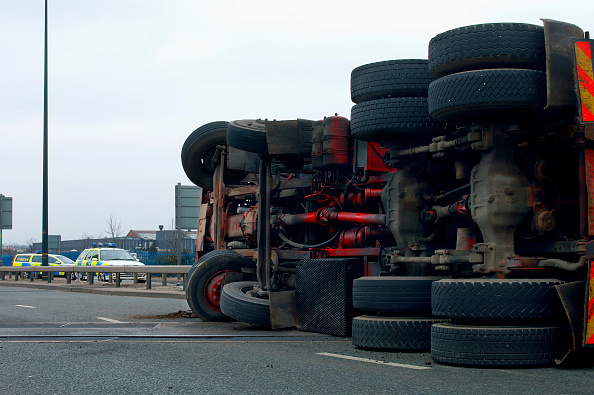 Danger「Lorry involved in a road accident」:写真・画像(15)[壁紙.com]