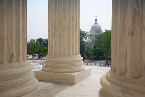 US Supreme Court Building「View of columns.」:スマホ壁紙(8)