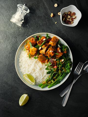 Basmati Rice「Healthy vegetarian Thai red curry with rice」:スマホ壁紙(16)