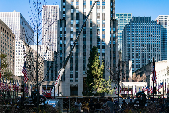 Tree「Rockefeller Center Christmas Tree Arrives In New York」:写真・画像(12)[壁紙.com]