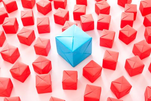 Paper Craft「Big blue cube」:スマホ壁紙(4)