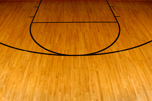 Hardwood「Simplistic aerial view of a basketball court」:スマホ壁紙(12)