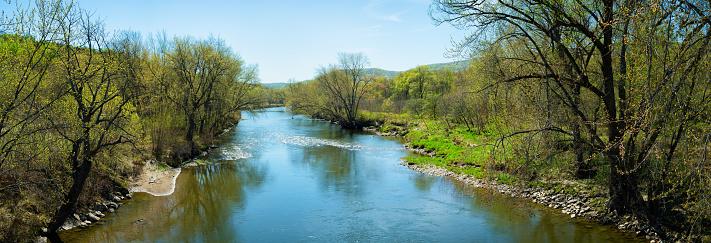 Eastern Townships「Missisquoi river at Springtime panorama」:スマホ壁紙(14)