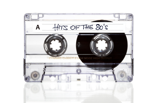 1980-1989「Audio Cassette. Hits of the 80s」:スマホ壁紙(1)