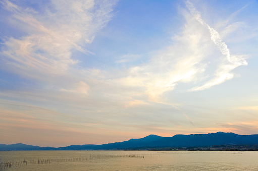 Satoyama - Scenery「Twilight View of Lake Biwa in Japan's Shiga Prefecture」:スマホ壁紙(18)