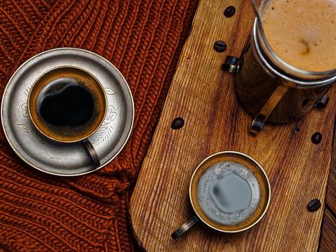 スカーフ「冬のコーヒー」:スマホ壁紙(13)