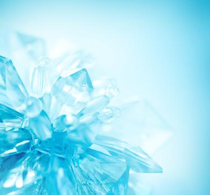 雪の結晶「クリスタルの結晶」:スマホ壁紙(7)