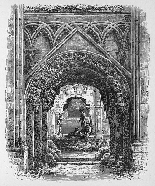 Run-Down「'Doorway in St Joseph's Chapel', Glastonbury Abbey, c1880, (1897)」:写真・画像(17)[壁紙.com]