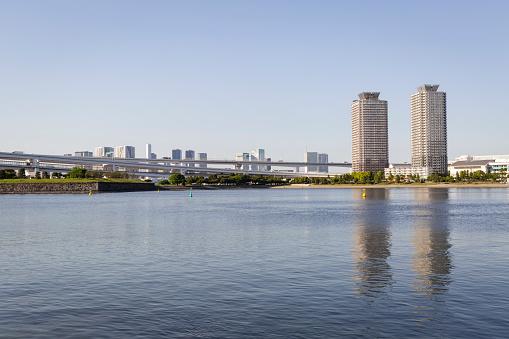 Japan「Tokyo Bay seen from Odaiba Beach.」:スマホ壁紙(0)